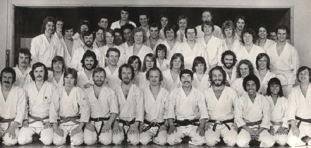 Gruppfoto, träningsläger 197x